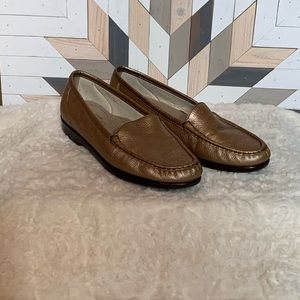 SAS Gold Loafers